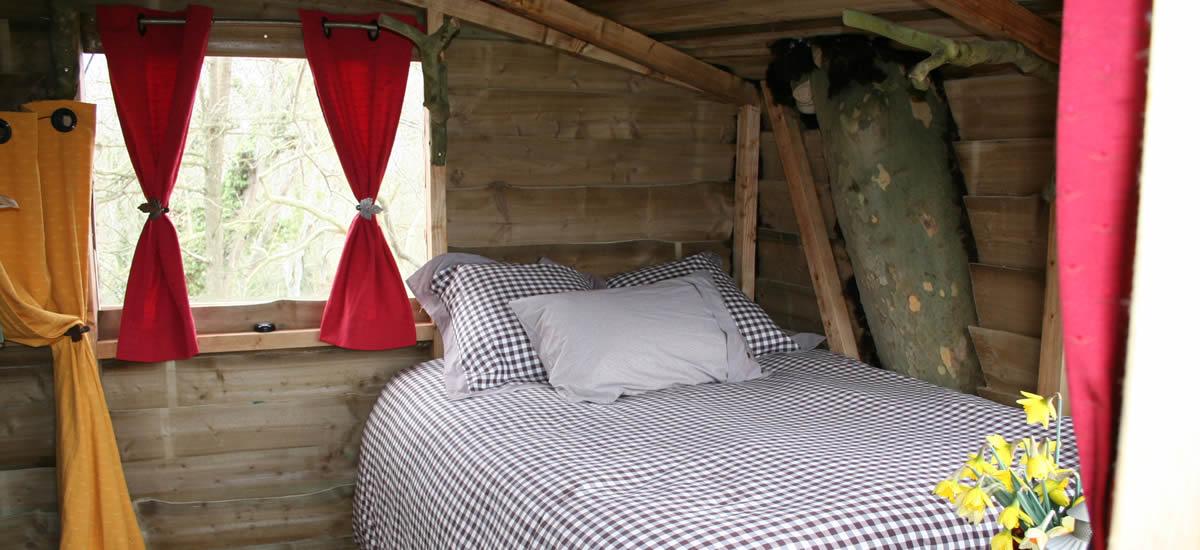 dormir dans la cabane cascade