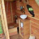 Cabane ilot, espace toilette