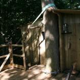 Weel-end cabane Laizon dans les arbres terrasse