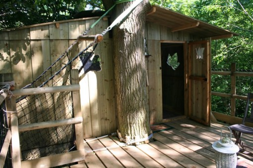 Weel-end cabane Laizon dans les arbres repos