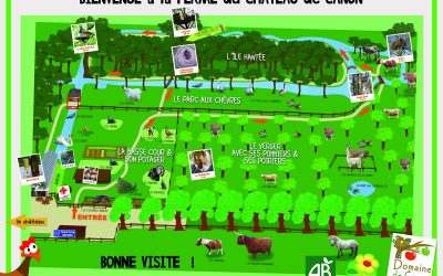 Plan de la ferme du Domaine de Canon