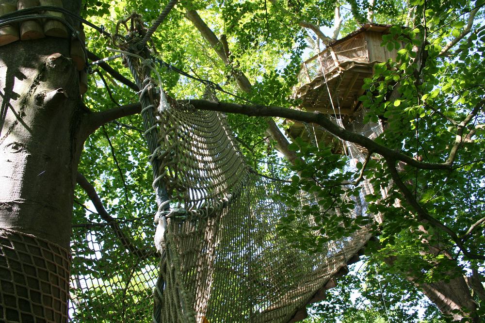 la cabane dans les arbres Nid d'Aigle