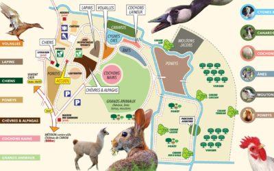 Plan de la ferme du Domaine de Ouézy